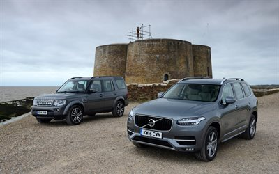 Volvo XC90, 2016, Land Rover Discovery, SUV, crossovers