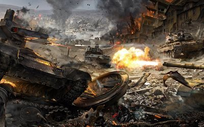 Armored Warfare, tanques, guerra, Jogos On-Line