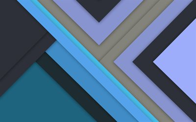 material design, lines, blue background, android lollipop, creative, geometric shapes, geometry