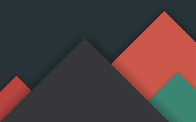 triangles, material design, geometry, geometric shapes, gray background