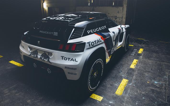 Download wallpapers Peugeot 3008 DKR, rally car, 2018, Dakar Rally ...