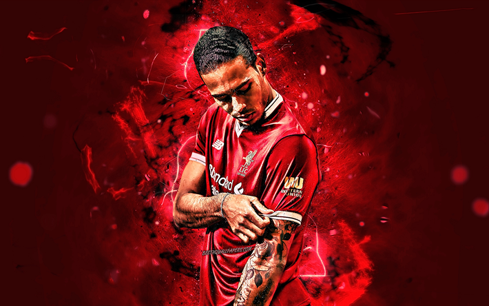 Download Wallpapers Virgil Van Dijk, Close-up, Liverpool