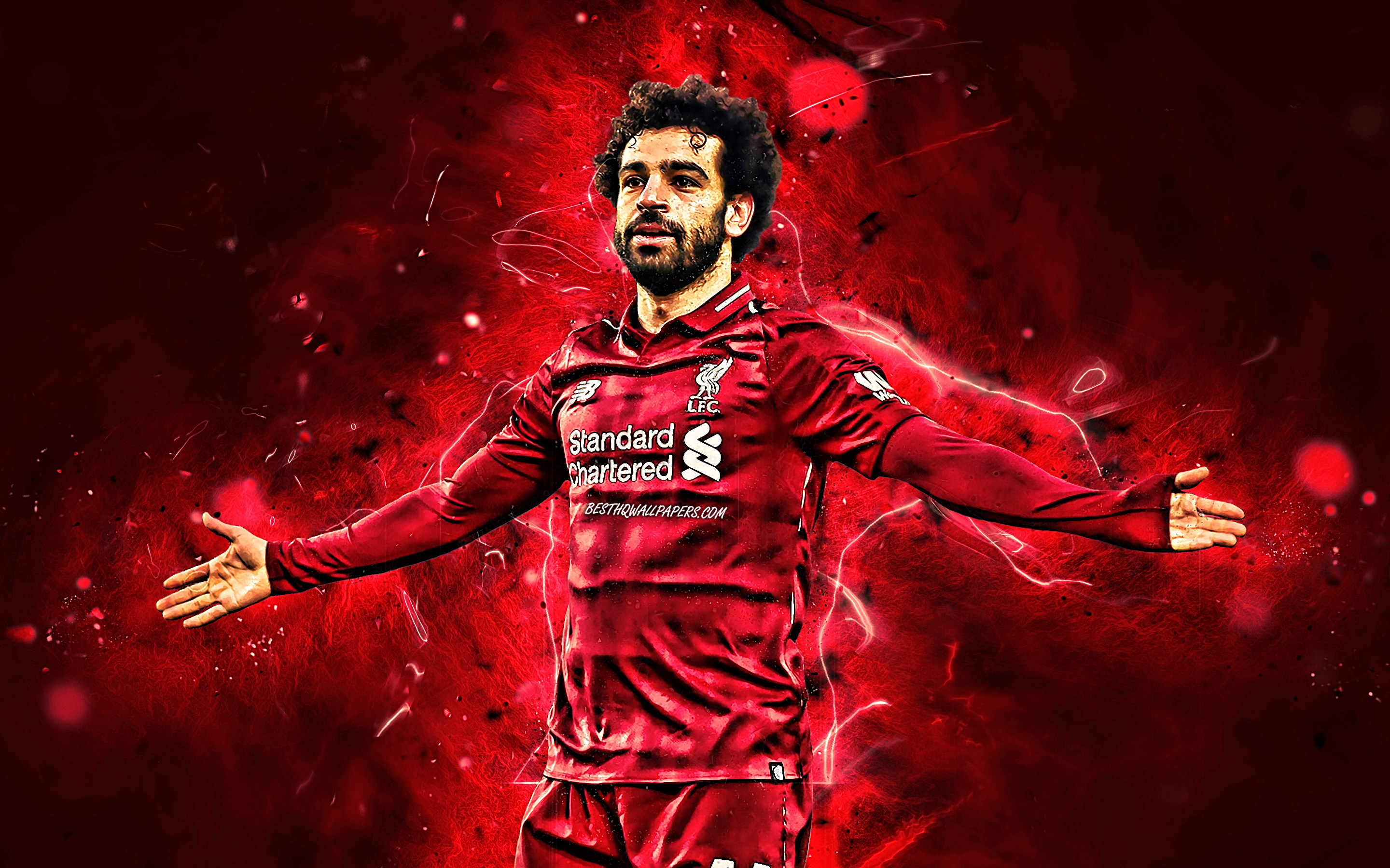 Download Wallpapers Mohamed Salah, LFC, Close-up, Egyptian