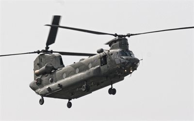 Boeing CH-47 Chinook, american heavy military transport helicopter, CH-47, military helicopters, transport helicopters