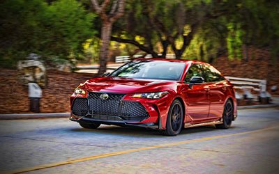 4k, Toyota Avalon TRD, street, 2020 cars, luxury cars, red Avalon, 2020 Toyota Avalon, japanese cars, Toyota