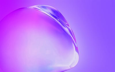 Samsung Galaxy S11, water bulb on a purple background, Samsung stock wallpaper, purple abstract background, Samsung