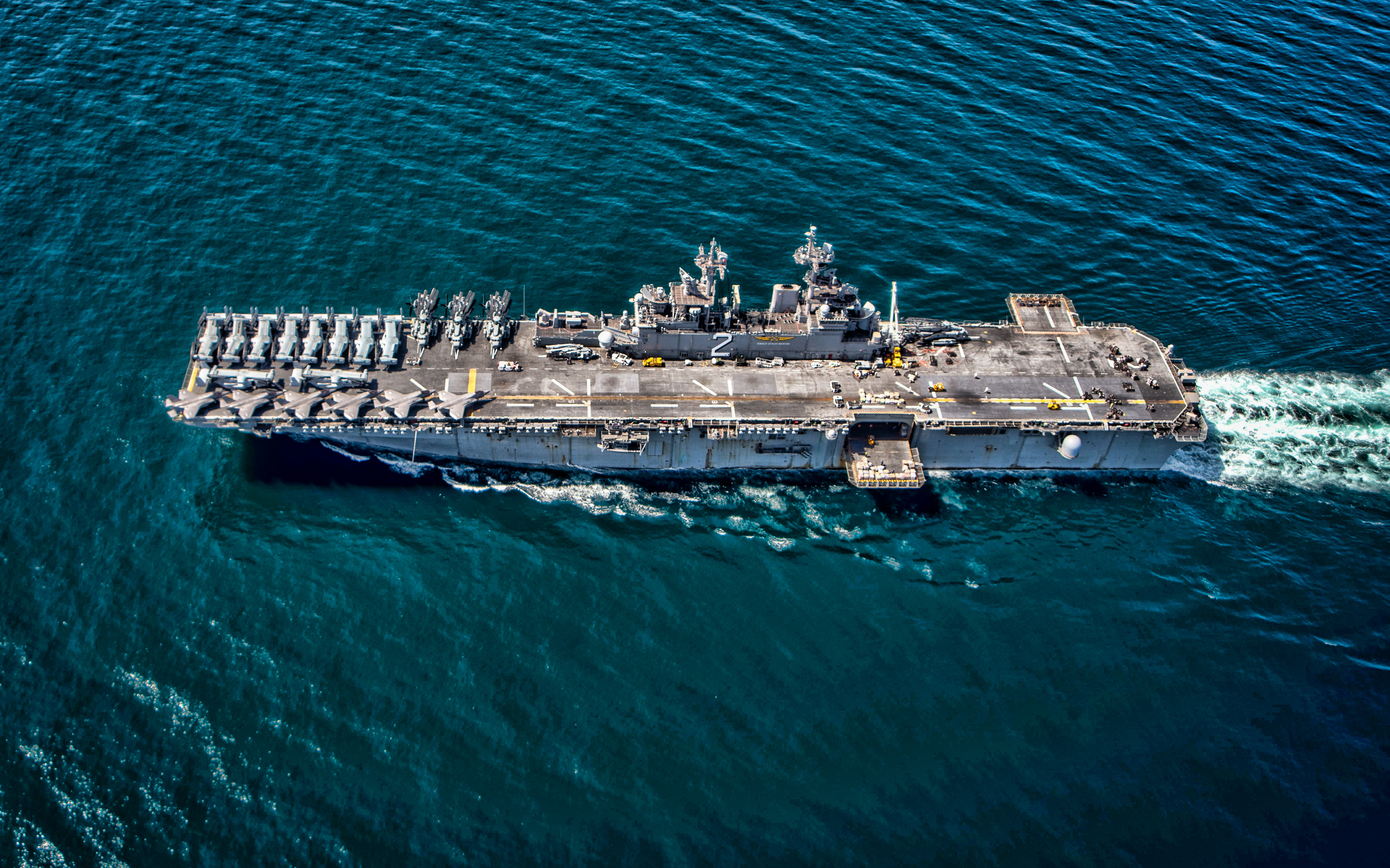 USS Essex, LHD-2, 4k, assault ships, United States Navy, US army, battleship, US Navy, Wasp-class, USS Essex LHD-2