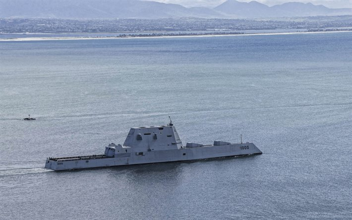 USS Zumwalt, DDG-1000, guided missile destroyer, United States Navy, Zumwalt class, USA, US Navy