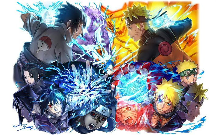 Download Wallpapers Naruto Uzumaki Chidori Rasengan Sasuke Uchiha Naruto Manga Naruto Characters For Desktop Free Pictures For Desktop Free