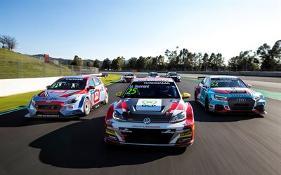 Hyundai i30 N TCR, Audi RS 3 LMS, Volkswagen Golf GTI TCR, WTCR, World Touring Car FIA, racing track