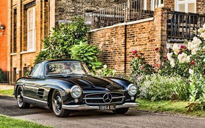 Mercedes-Benz 300S, retro cars, 1954 cars, W198, HDR, 1954 Mercedes-Benz 300S, german cars, Mercedes