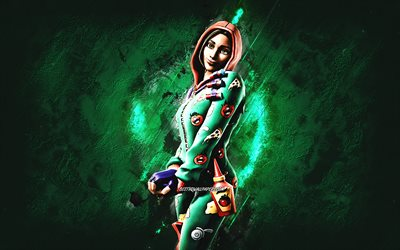 Fortnite PJ Pepperoni Skin, Fortnite, main characters, green stone background, PJ Pepperoni, Fortnite skins, PJ Pepperoni Skin, PJ Pepperoni Fortnite, Fortnite characters