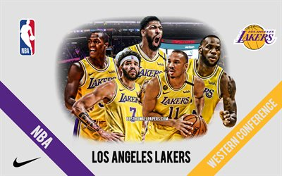 Los Angeles Lakers, NBA, American Basketball Club, Los Angeles Lakers logo, Staples Center, LeBron James, Anthony Davis, Wesley Matthews
