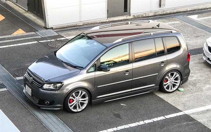download wallpapers volkswagen touran gti 4k tuning vw touran german cars volkswagen for. Black Bedroom Furniture Sets. Home Design Ideas