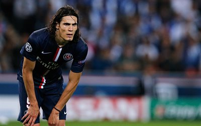 Edinson Cavani, blur, Neymar, PSG, soccer, football stars, Ligue 1, Paris Saint-Germain, Cavani, footballers