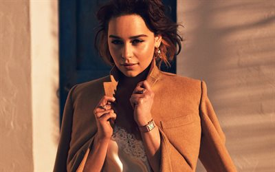 Emilia Clarke, 4k, Hollywood, british actress, Wl, Emily Clark, beauty