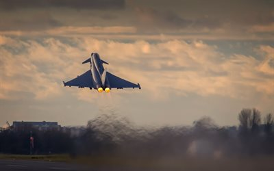 Eurofighter Typhoon, fighter, Eurofighter GmbH, aerodrome, Eurofighter, Typhoon