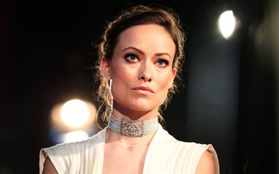 Olivia Wilde, American actress, portrait, beautiful woman, 4k, white dress