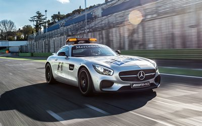 Mercedes-AMG GT S, 2017, C190, safety car, Formula 1, sports coupe, Mercedes