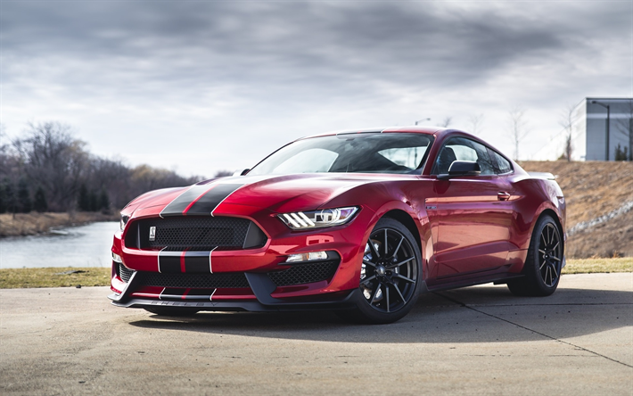 Download Wallpapers Ford Mustang Shelby Gt350 Tuning Muscle Cars