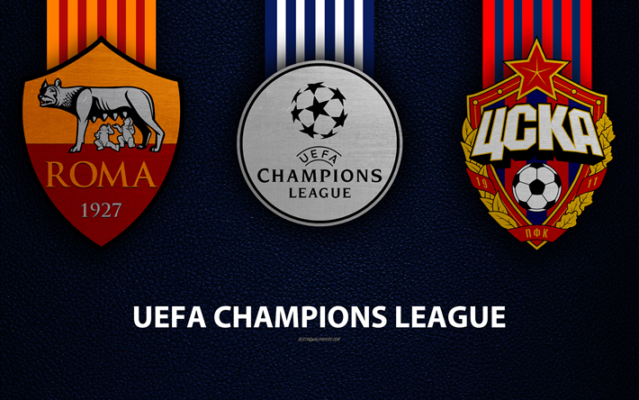 Download Wallpapers AS Roma Vs FC CSKA Moscow, 4k, Leather
