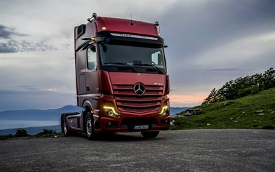 Mercedes-Benz Actros, new truck, 4x2, red Actros, german trucks, Mercedes