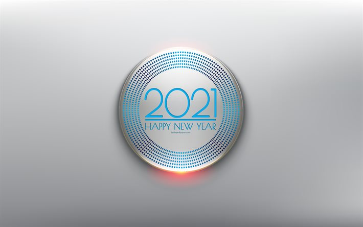 Happy New Year 2021, Blue 2021 Background, 3d elements, 2021 concepts, 2021 New Year, Blue 2021 3d element