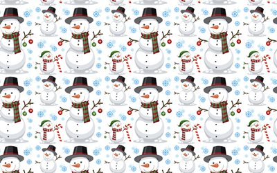 Background with snowmen, winter background, winter texutra, snowmen, Christmas background
