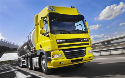 DAF CF, 2017, tanker, transportation of gasoline, tank, new trucks, CF85410, DAF