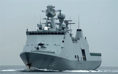 HDMS Absalon, L16, Royal Danish Navy, frigate, warship, RDN, Absalon class, Denmark