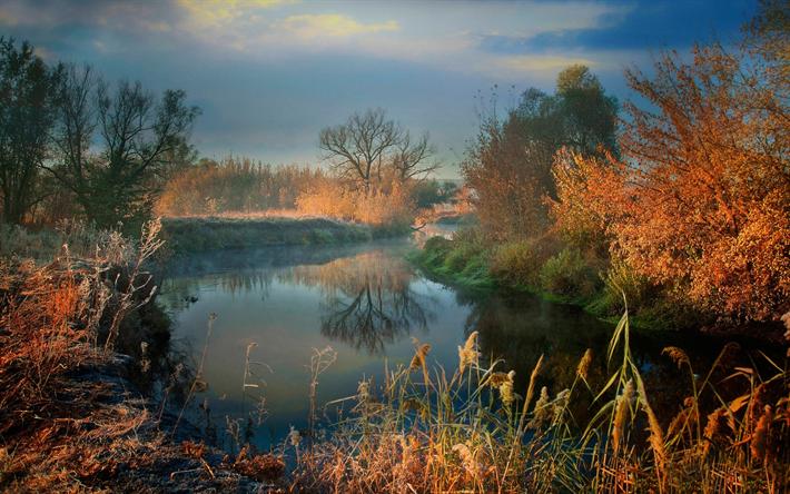 foto de Télécharger fonds d'écran le matin rivière paysage d