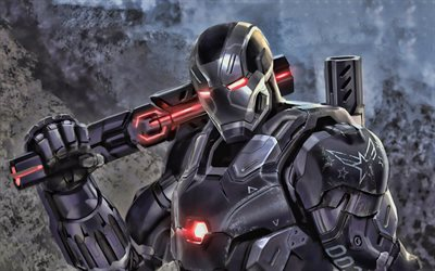4k, War Machine, cyber warrior, superheroes, Marvel Comics, War Machine 4K
