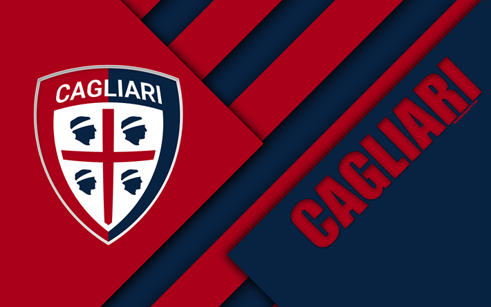 Download wallpapers cagliari fc logo 4k material design for Logos space torino