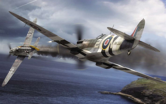 Download Wallpapers War Thunder Messerschmitt Bf109g 6