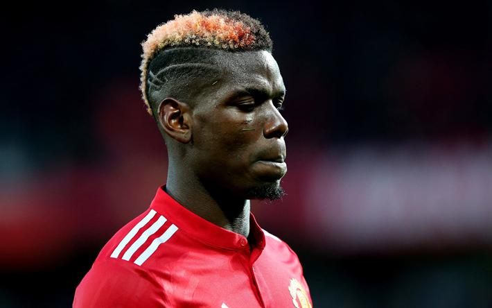 Paul Pogba French Footballer Portrait Manchester United Football Star Premier League