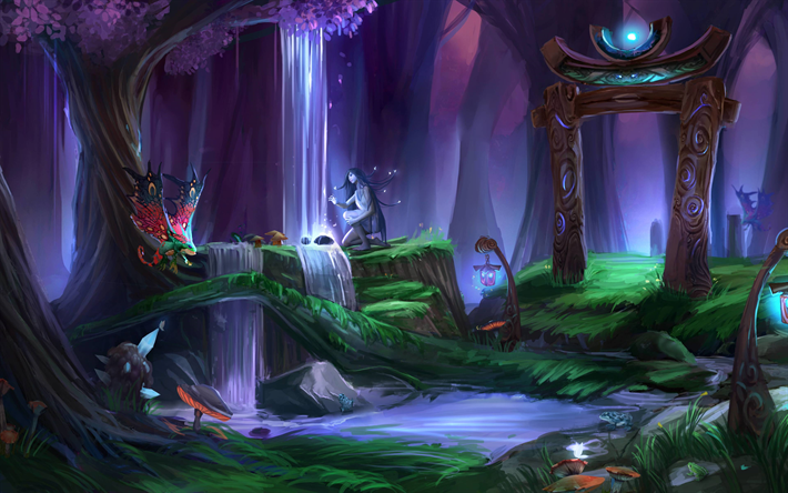 Download Wallpapers World Of Warcraft 4k Art Forest Wow For