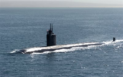nuclear submarine, USS Asheville, SSN-758, Los Angeles-class submarine, US Navy, warships, USA