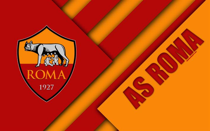 Download Wallpapers Roma Fc Logo 4k Material Design