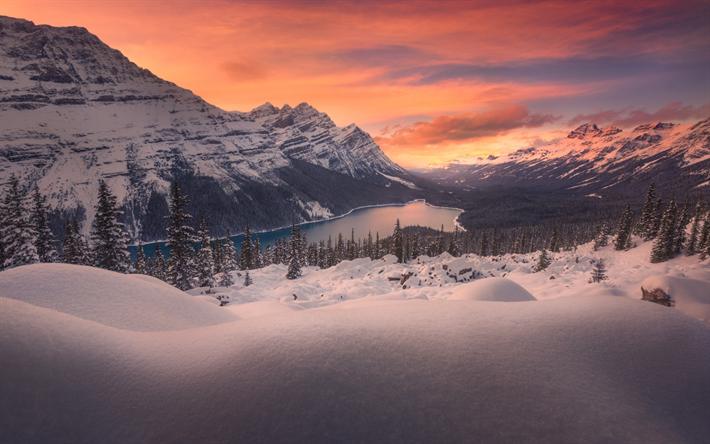 Scarica sfondi lago di montagna inverno paesaggio for Sfondi desktop inverno montagna