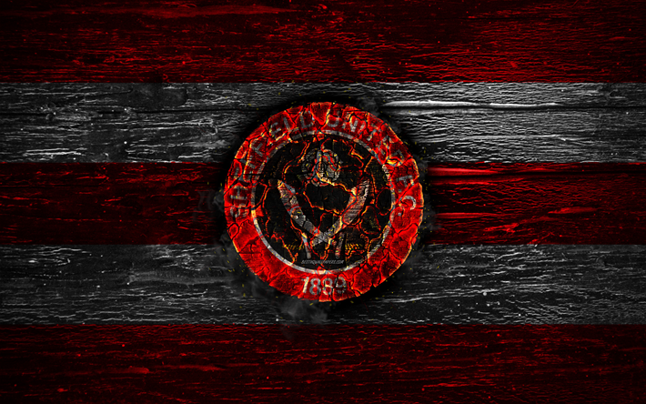 Download Wallpapers Sheffield United FC, Fire Logo
