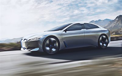BMW i4 EV, road, 2019 cars, electric cars, supercars, 2019 BMW i4, german cars, new i4, BMW