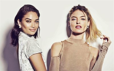 Martha Hunt, Shanina Shaik, American top models, fashion models, photoshoot, beautiful women