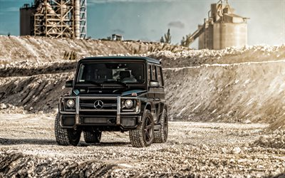 Mercedes-AMG G63, career, 2019 cars, offroad, SUVs, black Gelendvagen, Mercedes G-Class, new G-Class, Gelendvagen, german cars, Mercedes