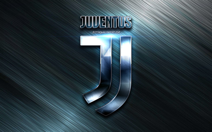 Download Wallpapers Juventus Metal New Logo Metal Background Juve Serie A Juventus Logo Italian Football Club Juventus New Logo Italy Juventus Fc For Desktop Free Pictures For Desktop Free