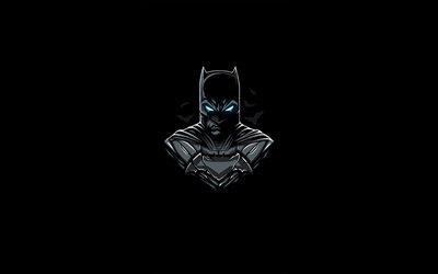 Batman, minimal, superheroes, black background