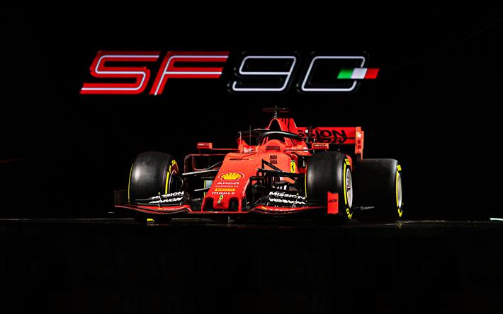 Wallpaper Ferrari Sf90 F1 2019 4k 5k Automotive Cars: Download Wallpapers Ferrari SF90, 4k, 2019 F1 Cars