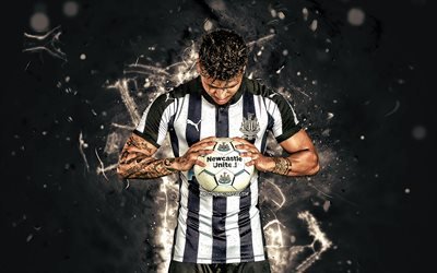 DeAndre Yedlin, american footballers, Newcastle United FC, soccer, Yedlin, Premier League, football, neon lights, England