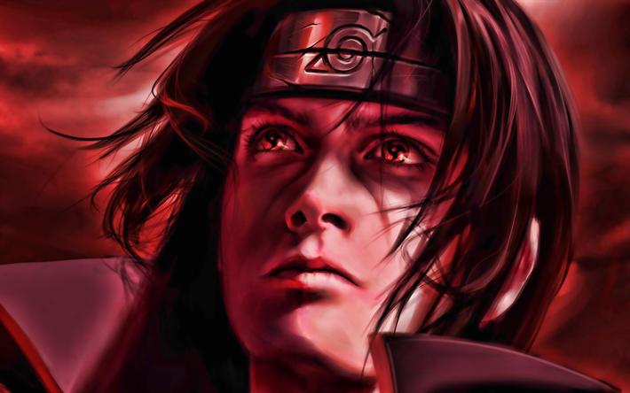 thumb2 4k itachi uchiha akatsuki manga red eyes