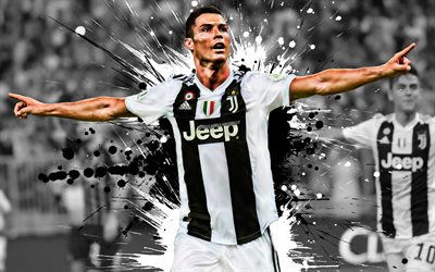 Cristiano Ronaldo, Juventus FC, Portuguese football player, goal, joy, Juve, Italy, Serie A, world football star, portrait, CR7, famous football players, football, Ronaldo