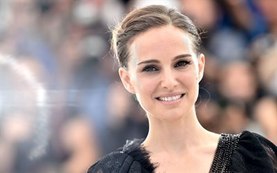 Natalie Portman, portrait, Hollywood, smile, american actress, beauty